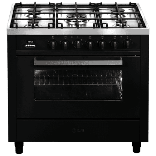 ILVE 90cm Dual Fuel Upright Cooker Graphite – V09CWMP/MG: $2,365