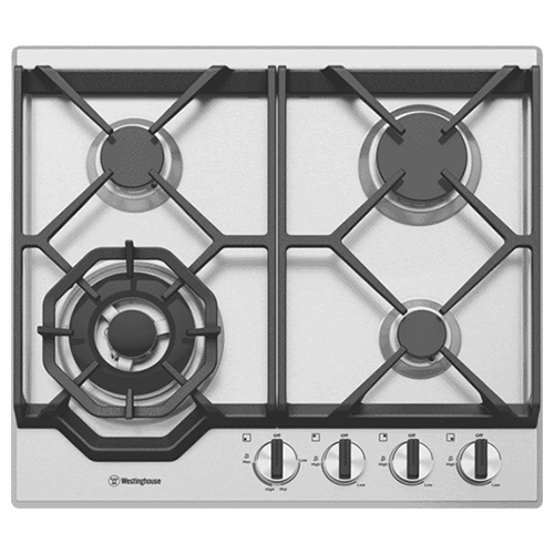 Westinghouse 60cm Gas Cooktop – Stainless Steel – WHG648SC: $561
